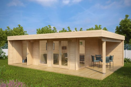 Luxus Gartenhaus Hansa Lounge XXL (Gartenhaus 2 Räume)