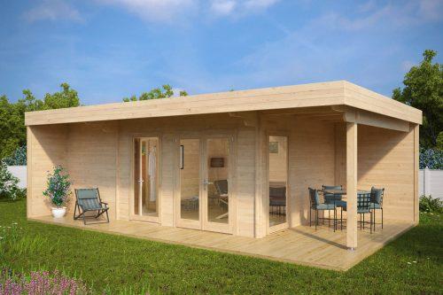 Gartenhaus mit Sauna Hansa Lounge (große Gartensauna)
