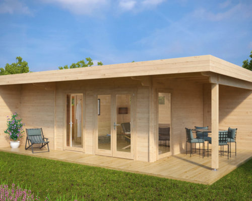 gartenhaus mit sauna hansa lounge gro e gartensauna 22m 44mm 8x5 hansagarten24. Black Bedroom Furniture Sets. Home Design Ideas