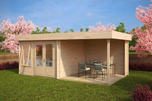 Modernes Gartenhaus mit Dachterrasse Lucas D