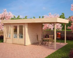 Modernes Gartenhaus mit Terrassendach Lucas D