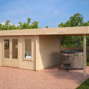 Modernes Holz-Gartenhaus mit Terrasse Jacob D