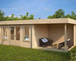 Modernes Holzhaus mit Terrasse Jacob D