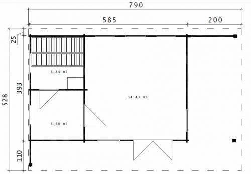 Gartenhaus mit Sauna Hansa Lounge