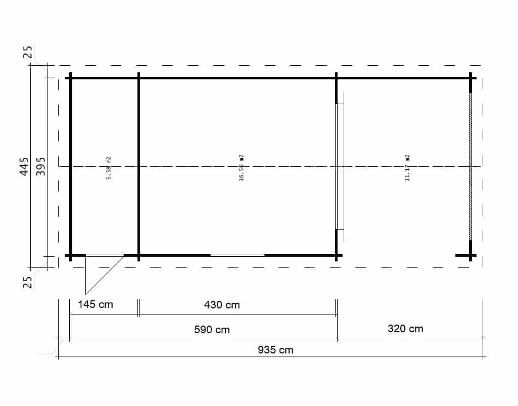 Größes Gartenhaus mit Terrasse Heinz