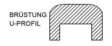 Flachdachs mit Brüstung für Gartenhäuser