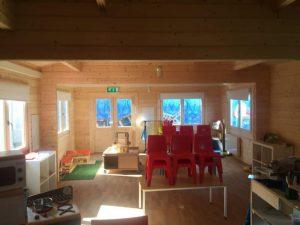 Ein Kindergarten im Holzhaus