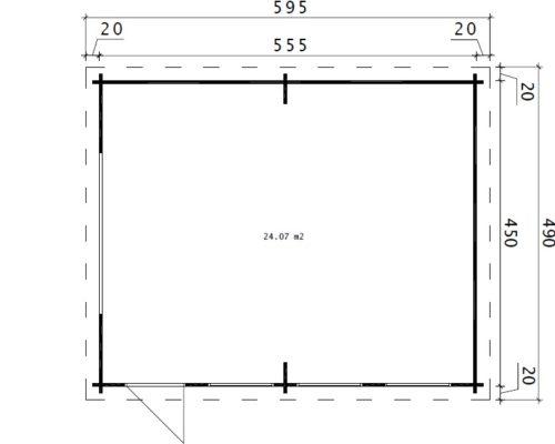 Große Holzgarage D Grundplan