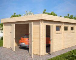 holzgarage online kaufen holzgaragen carports. Black Bedroom Furniture Sets. Home Design Ideas