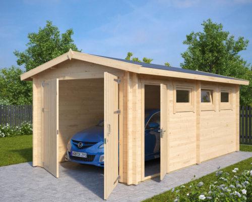 Holzgarage A mit Doppeltüren
