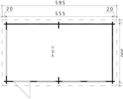 Holzgarage C grundplan
