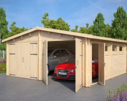 holzgarage online kaufen holzgaragen carports. Black Bedroom Furniture Sets. Home Design Ideas