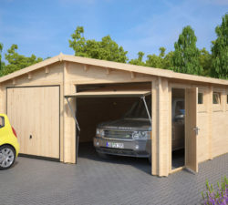 holzgarage online kaufen holzgaragen carports hansagarten24. Black Bedroom Furniture Sets. Home Design Ideas