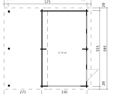 Holzgarage G Grundplan