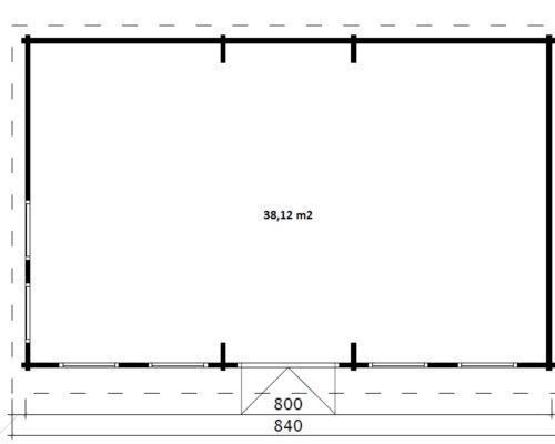 Billard-Raum im Garten Hansa B