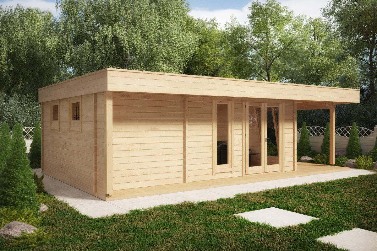 gro es gartenhaus die hansa lounge xxl billard edition 24m2 50mm 5x8 hansagarten24. Black Bedroom Furniture Sets. Home Design Ideas