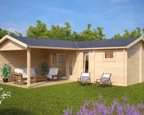 garten spa und sauna holzhaus b 22m2 70mm 3x7. Black Bedroom Furniture Sets. Home Design Ideas