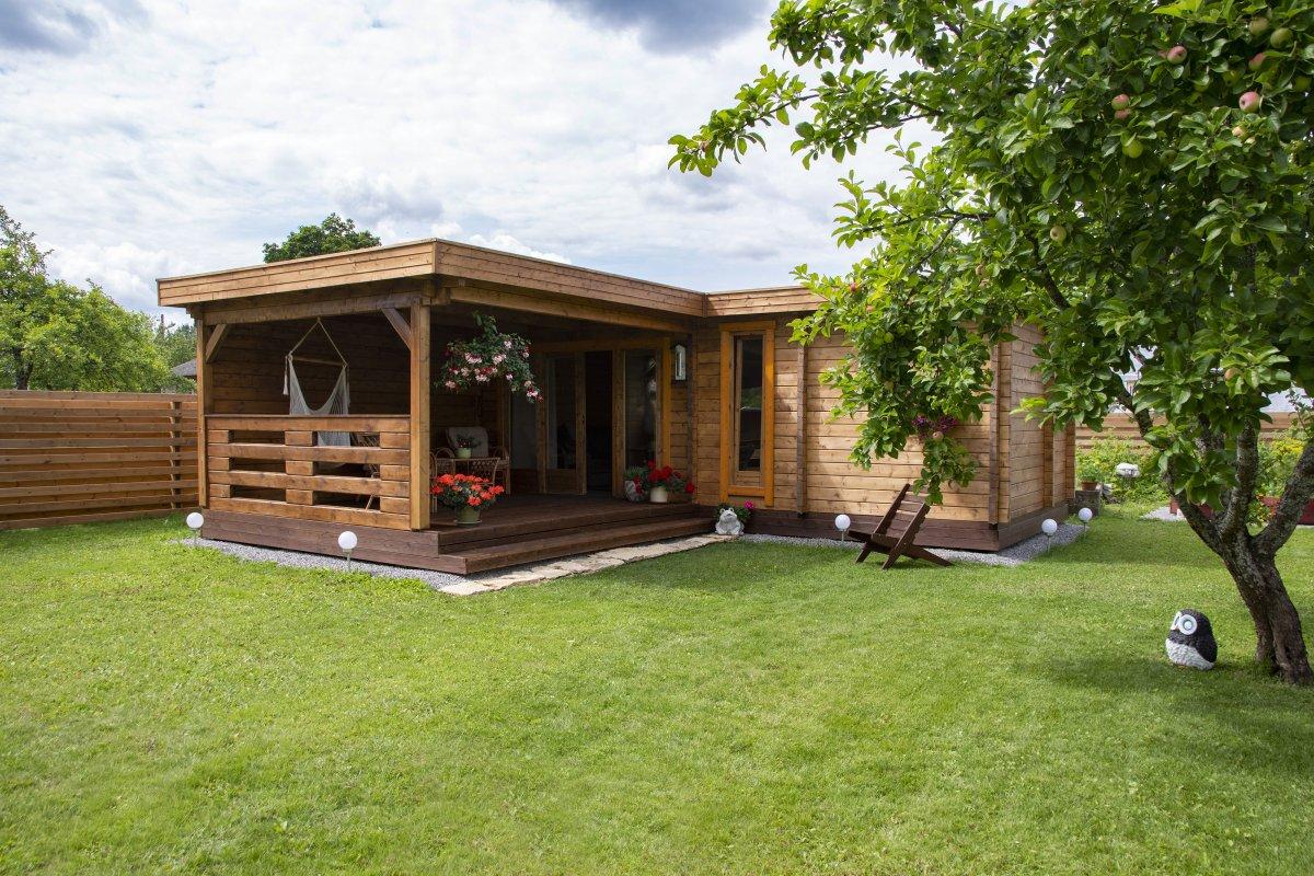 Gartenhaus mit Sauna A 22m2 70mm 3x7