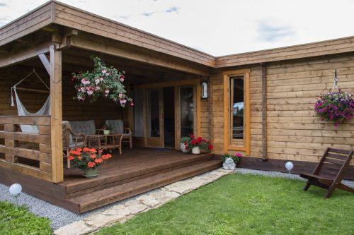 Gartenhaus mit Sauna A 22m2 70mm