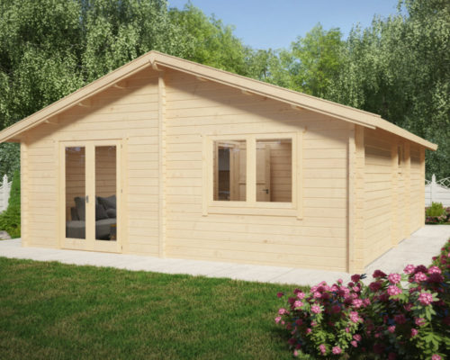 """Holzhaus mit zwei Schlafzimmern """"Irland"""""""