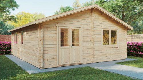 """Holzhaus mit zwei Schlafzimmern """"Irland"""" 43 m2 / 70mm / 7x6m"""