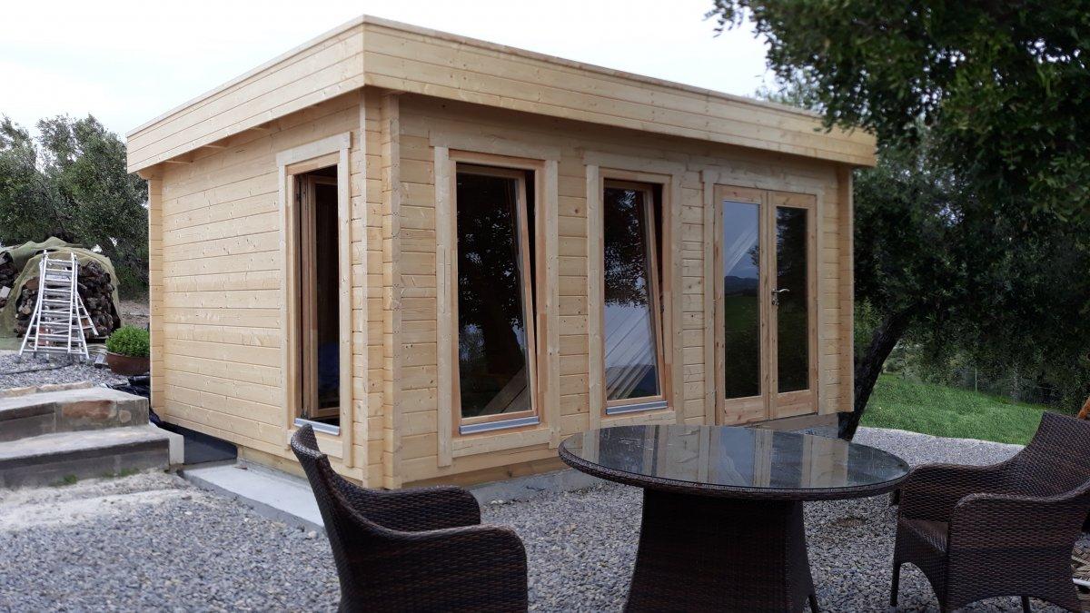 Holzhaus mit Flachdach Ian D 18m² 58mm 4x5m