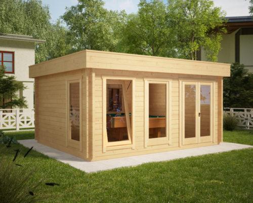 Modernes Holzhaus mit Flachdach IAN D