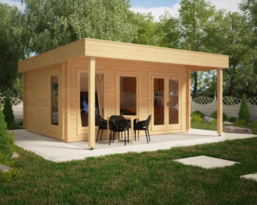 Großes Gartenhaus mit Vordach Ian E