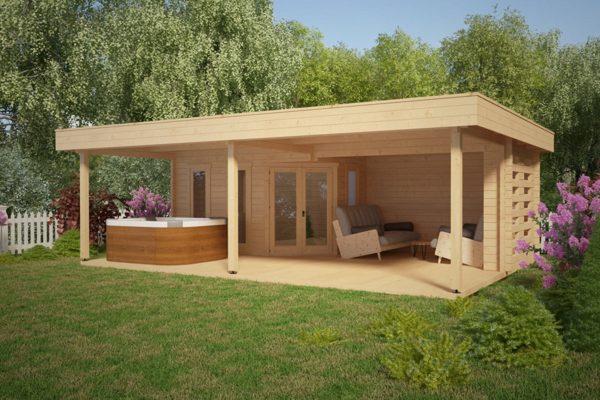 gartrenhaus mit gro er terrasse garden paradise a 10m2. Black Bedroom Furniture Sets. Home Design Ideas