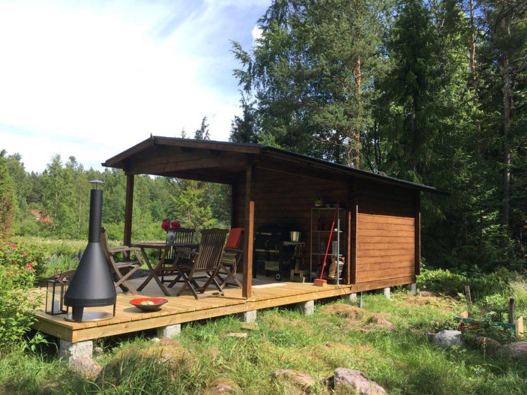 Gartenhaus Nora D mit Vordach – mehr Garten für wenig Geld