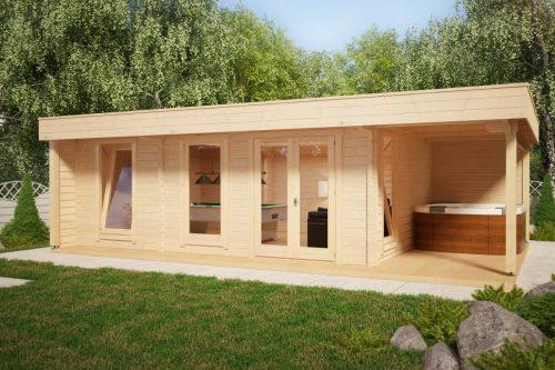 """Großes Gartenhaus: """"Die Hansa Lounge XXL Billard Edition"""""""