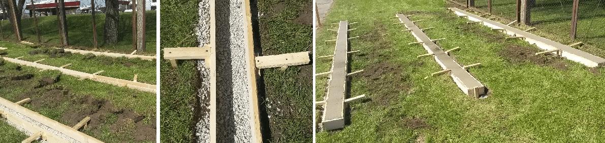 Gartenhaus Fundamenttypen