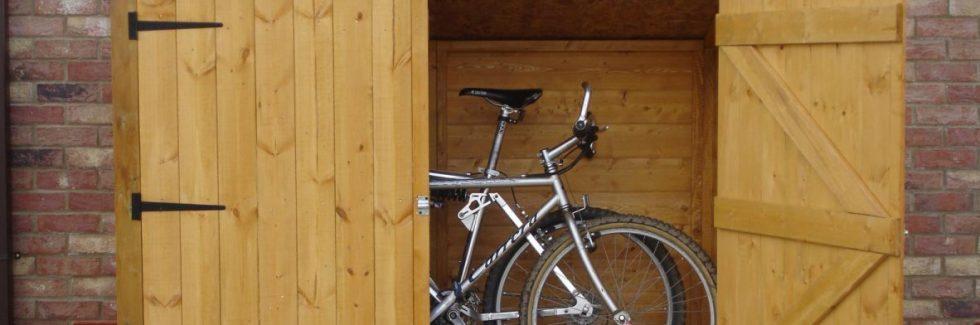Gartenhaus aus Holz – Einige Möglichkeiten zum Parken von Fahrrädern