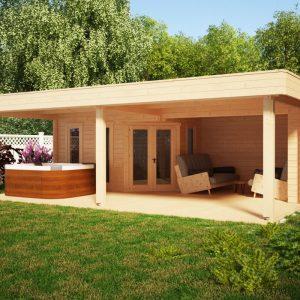 Gartrenhaus mit Großer Terrasse Garden Paradise A
