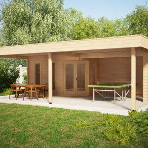 Gartenhaus mit Großem Sonnedach Garden Paradise B