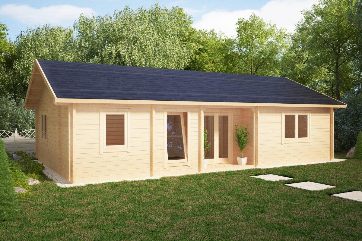 ferienhaus mit zwei schlafzimmern dune 70m2 70mm 12 x 6 m hansagarten24. Black Bedroom Furniture Sets. Home Design Ideas