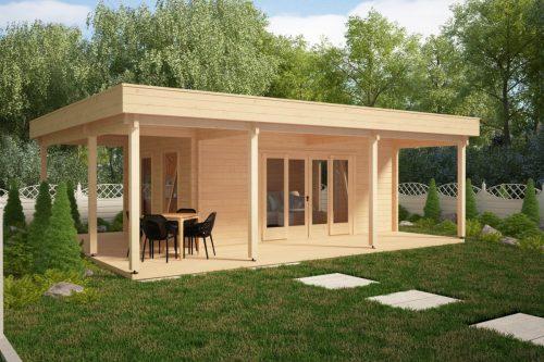 Gartenhaus mit großer Terrasse Remo 1