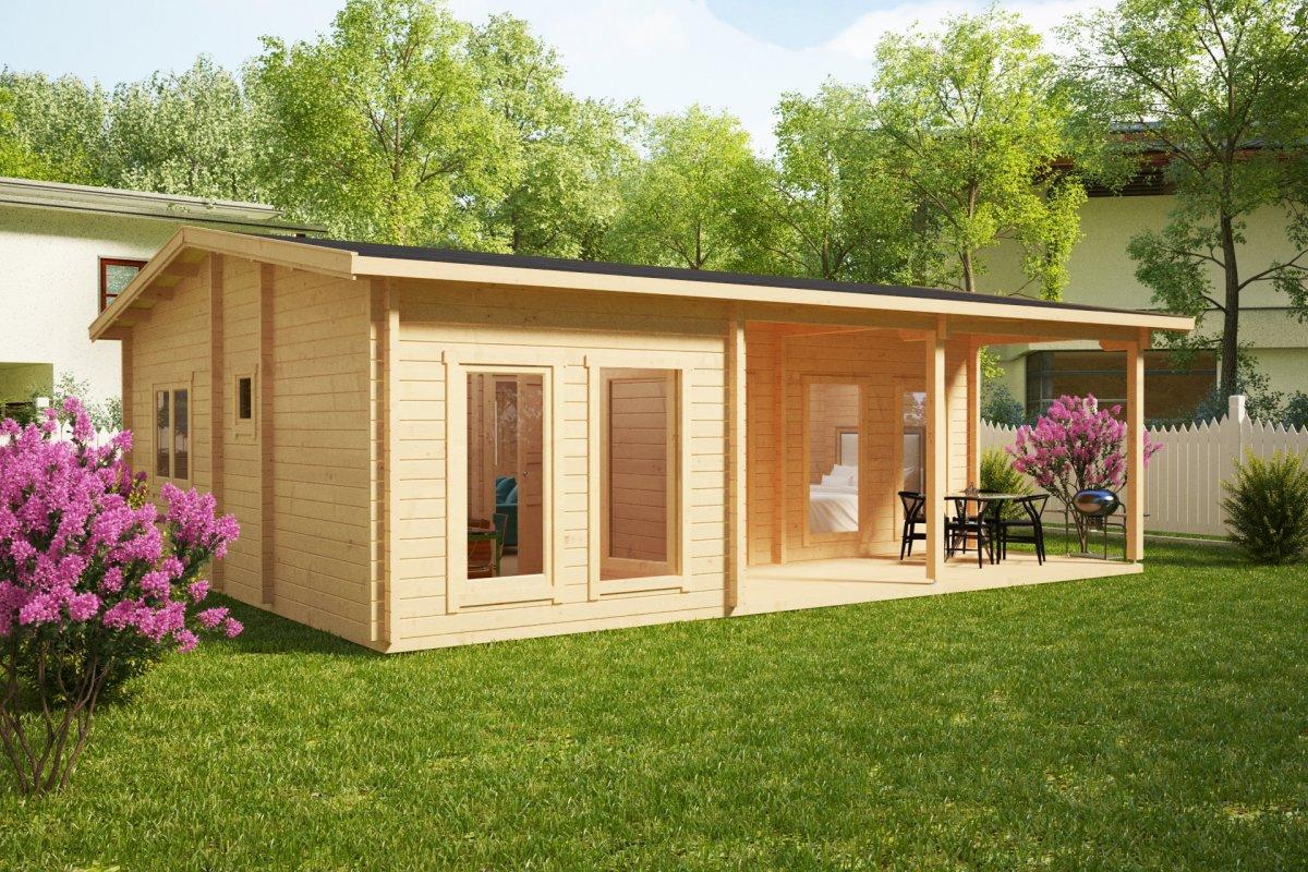 wochenendhaus mit 3 schlafzimmern hansa holiday d 50 m2. Black Bedroom Furniture Sets. Home Design Ideas