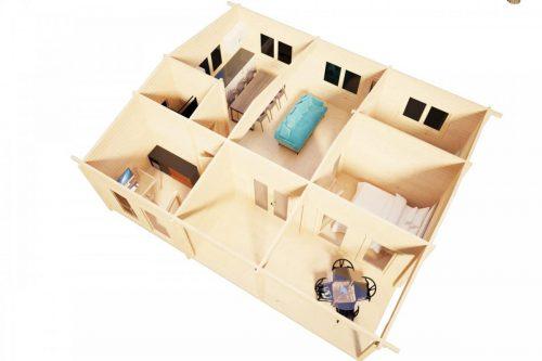 Wochenendhaus mit 3 Schlafzimmern Hansa Holiday D