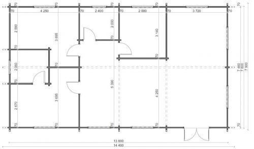 Blockhaus mit 3 Schlafzimmern Hansa Holiday G