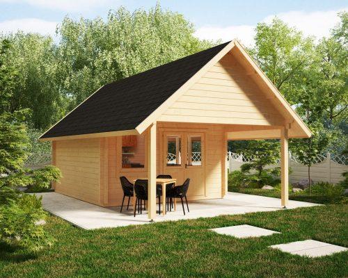 Gartenhaus mit Vordach Mark