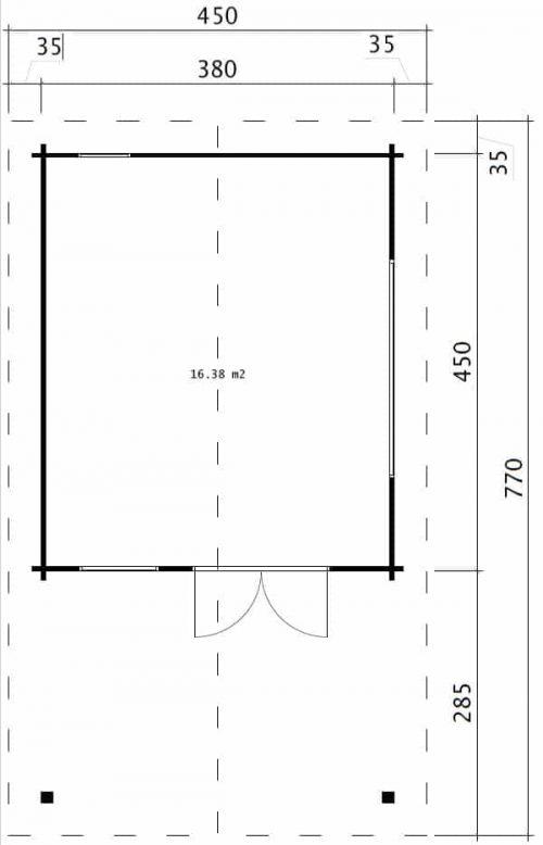 Gartenhaus Mark Grundplan