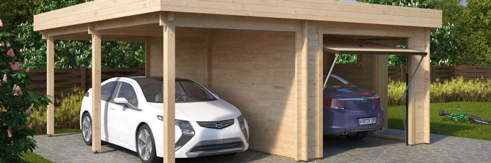Holzgaragen mit Carport – Gibt es Vorteile?