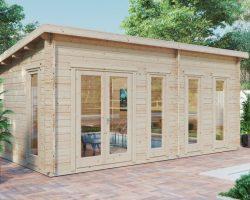 Gartenhaus mit Pultdach Liam 16m2 / 6 x 3 m / 44 mm