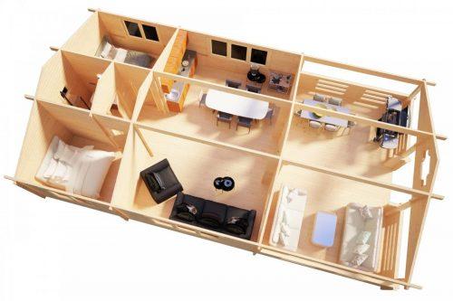 Zwei Schlafzimmer Ferienhaus Holiday F