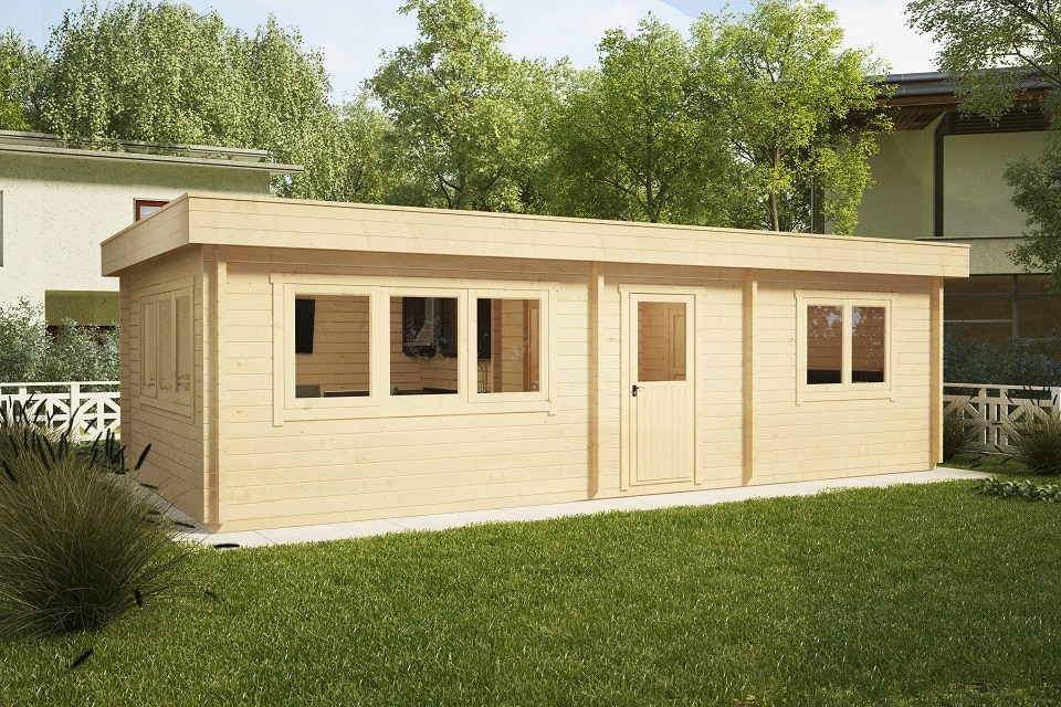 Ferienhaus mit einem Schlafzimmer Holiday I 40m2 / 4,5 x 9 m / 70mm