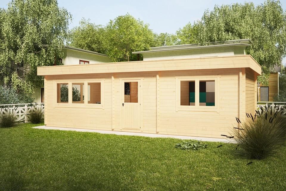 Ferienhaus mit einem Schlafzimmer Holiday I 40m2 / 4,5 x 9 m / 70mm ...