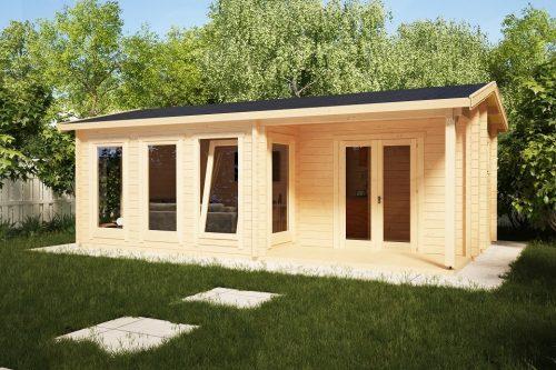 Gartenblockhütte Malaga I 22m2 / 7 x 4 m / 58mm