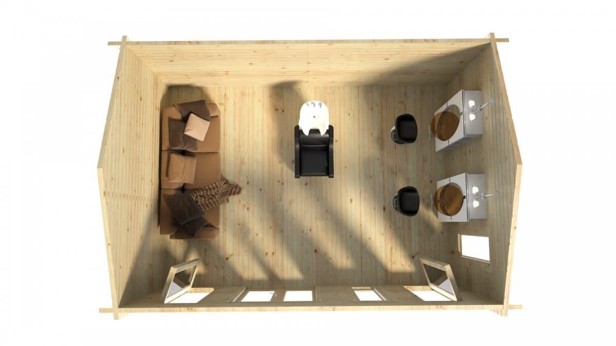 Garten Holzhaus Barcelona 21 M2 6 X 4 M 44 Mm Hansagarten24
