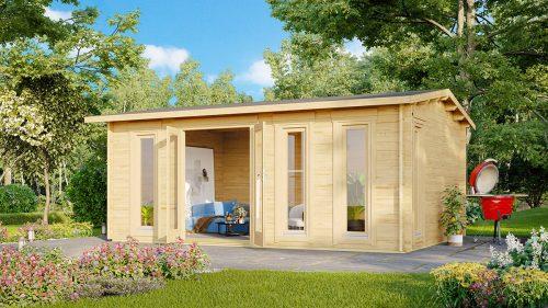 Garten-Holzhaus Barcelona 21 m2 / 6 x 4 m / 44 mm